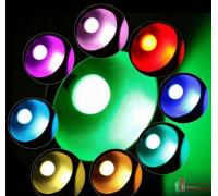 Цветная светодиодная лампа с пультом