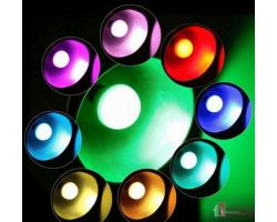 Светодиодная лампочка цветная с пультом управления