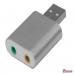 Внешняя звуковая карта USB 2.0 алюминиевый корпус