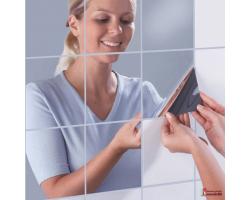 Зеркальная плитка на самоклеющейся основе