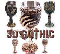 Дизайнерские необычные бокалы для вина 3D Gothic