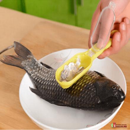 Универсальная рыбочистка с контейнером для чешуи