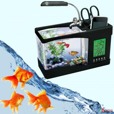 Декоративный мини аквариум USB