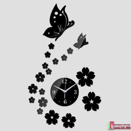 """Настенные часы """"3D Butterfly Flower"""""""