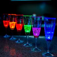 Бокалы для вина и шампанского светящиеся (6 шт.)