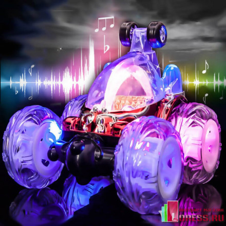 Машинка перевертыш KCR светящаяся на радиоуправлении