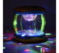 Развивающий музыкальный барабан с подсветкой