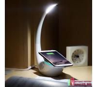 """Настольная лампа """"PHANTOM"""" с беспроводной зарядкой и USB"""