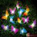 """Светодиодная гирлянда """"Бабочки"""" на солнечной батарее"""