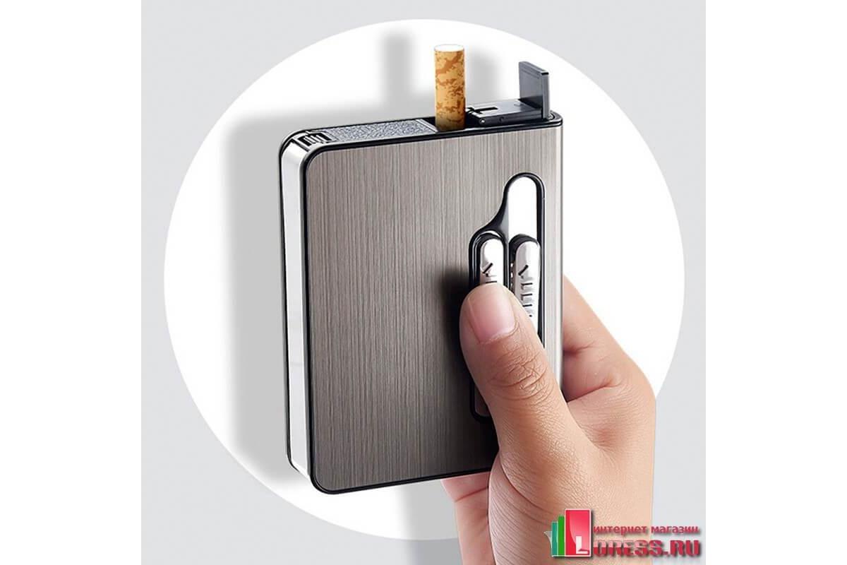 Портсигар на 20 сигарет с зажигалкой купить в москве заказать курьером сигареты