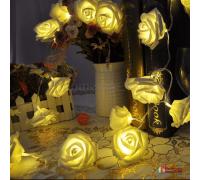 """Светодиодная гирлянда из роз """"Фея"""" (2 м, 20 LED, на батарейках)"""